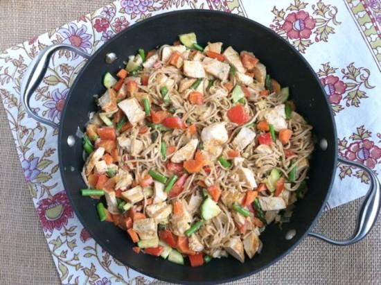 This Asian Noodle Salad is great served warm or cold. Eat some for dinner and take the rest for lunch the next day!