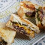 Grilled Cheese With Pesto and Black Bean Spread