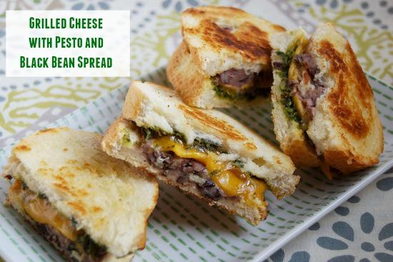 Take your grilled cheese to the next level by adding black beans and pesto! This would make the perfect meatless monday lunch!