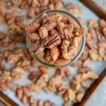 Lightly sweetened, with just the right amount of spice, these Sweet & Spicy Mixed Nuts make a great party appetizer or holiday gift!