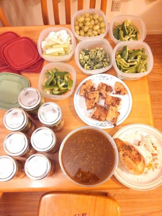 food prep Sunday Nov 3