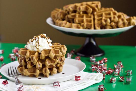 gingerbread waffles e1387634959723 10 Christmas Breakfast Ideas