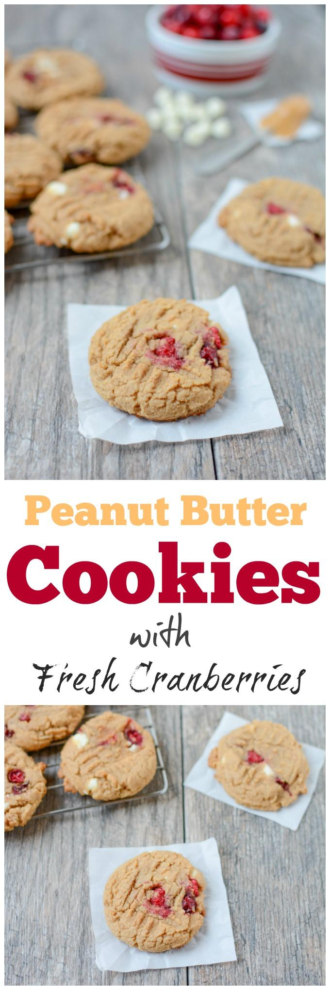 Fresh cranberries aren't just for sauce! These Cranberry Peanut Butter Cookies strike the perfect balance of tart and sweet!