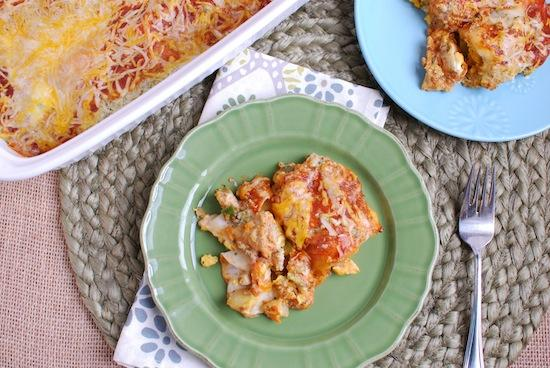 This Breakfast Enchilada Casserole is the perfect breakfast dish for when you have company. Make it the night before and pop it in the oven in the morning.