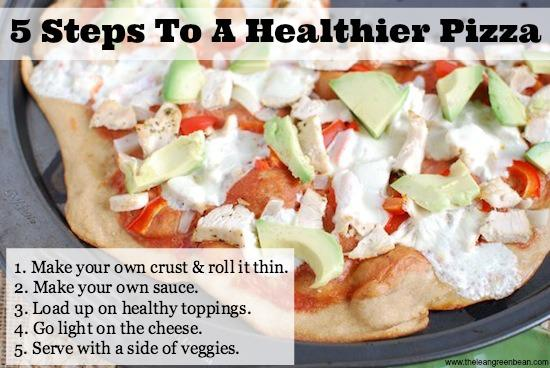 healthy pizza 1 5 Steps To A Healthier Pizza