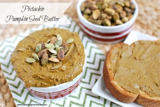 Tired of peanut butter? This Pistachio Pumpkin Seed Butter is a delicious homemade nut butter alternative!