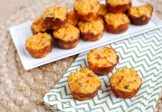 These Jalapeno Cheddar Sweet Potato Puffs are the perfect finger food! Make them as an appetizer for your next party, a snack for the big game or as a side dish for dinner!