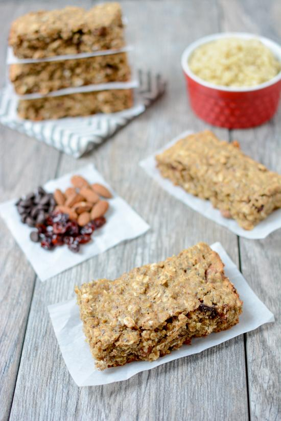 This recipe for Quinoa Breakfast Bars is packed with protein and fiber for an easy grab-and-go breakfast.