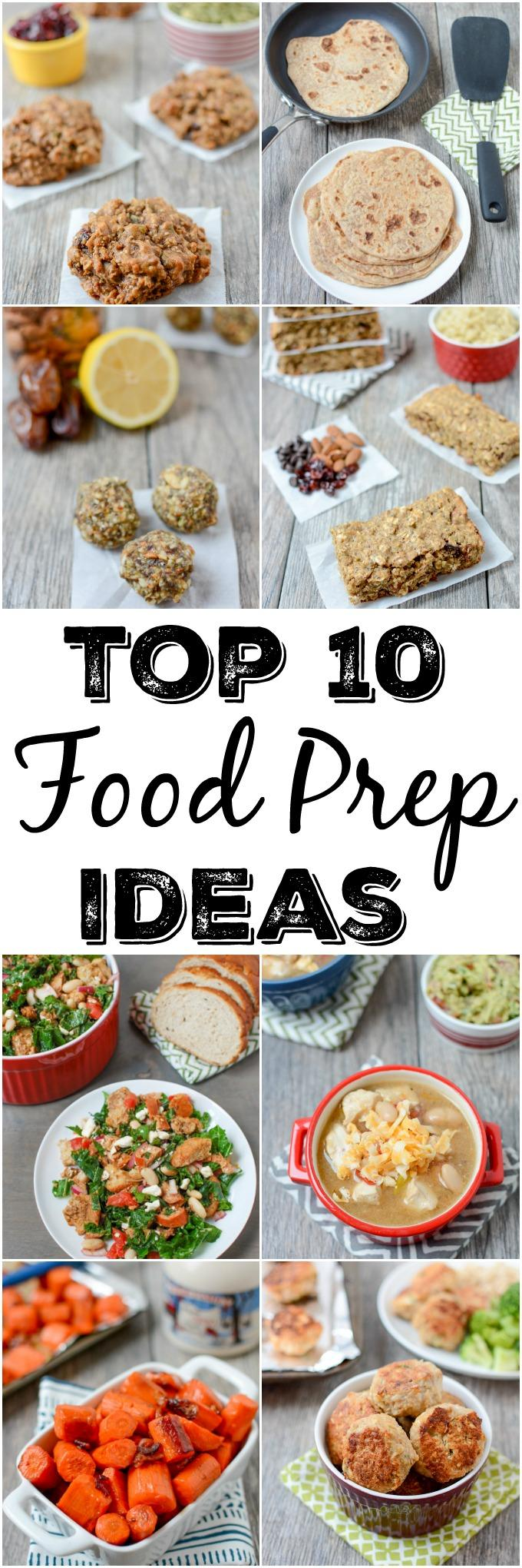 Food Prep is a key tool for helping you and your family eat healthier during the week. Here are 10 foods and recipes that are great for doing meal prep ahead of time.