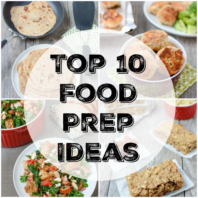 Here are the Top 10 Foods For Sunday Food Prep! Prep these individual meal components ahead of time and combine them throughout the week into quick healthy meals your family will love.