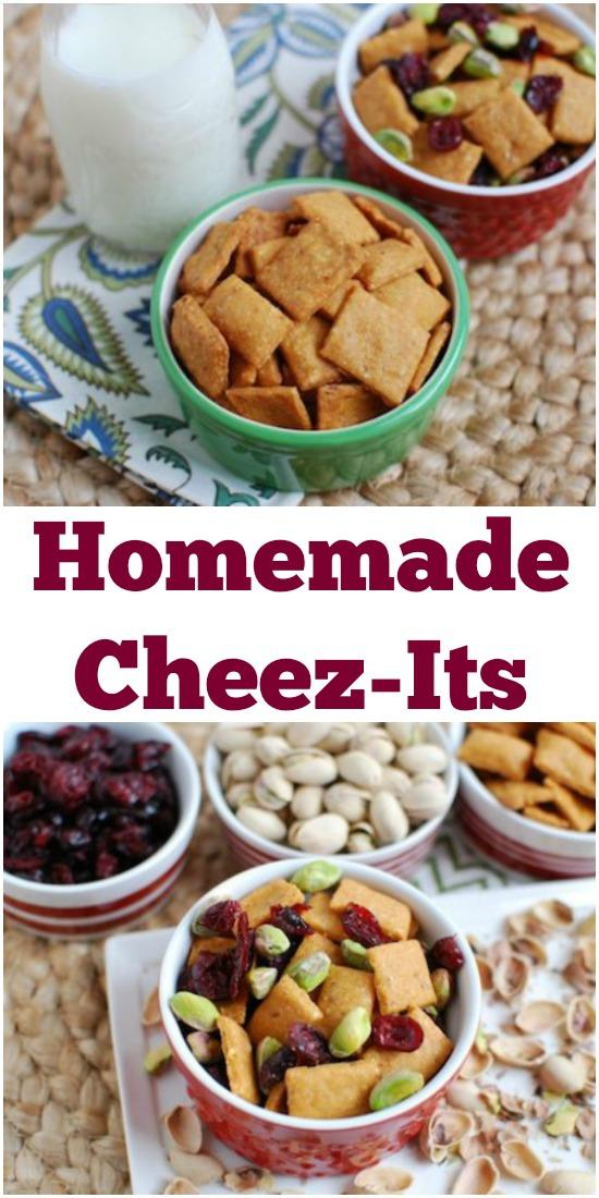 With a few simple ingredients and not too much effort you can have a homemade version of your favorite store-bought Cheez-Its to snack on!