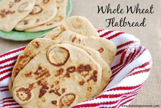 This Whole Wheat Flatbread is the perfect dinner side dish!