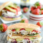 Balsamic Chicken & Strawberry Panini