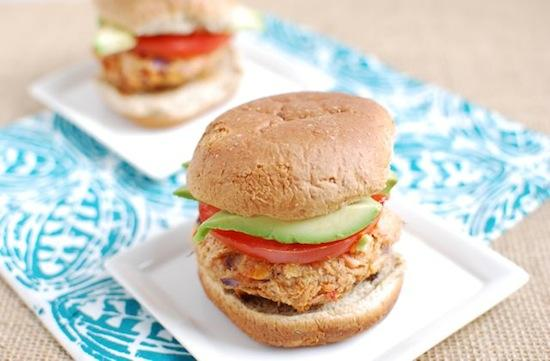 These Thai Peanut Salmon Burgers are a fun change from meat-based burgers. Add them to your menu for an extra dose of heart-healthy fats!