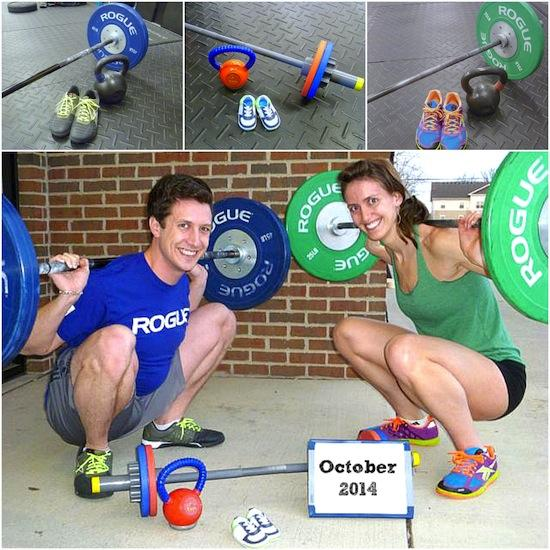 A crossfit pregnancy announcement idea.