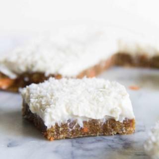 No-Bake Carrot Cake Cream Cheese Bars