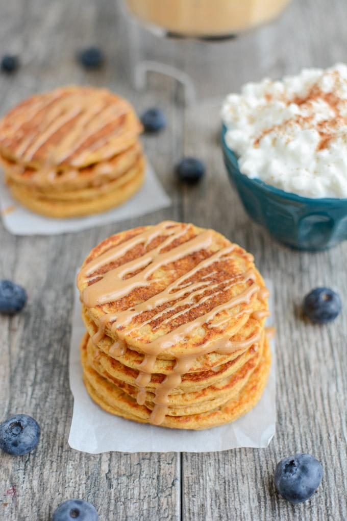 These Sweet Potato Protein Pancakes Are Made In A Blender With Protein Rich  Ingredients Like Cottage Cheese And Eggs. No Protein Powder Required And  They ...