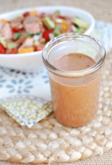 Make your own salad dressing to avoid added sugar and other crazy ingredients! This Strawberry Balsamic Dressing pairs well with almost any salad toppings!