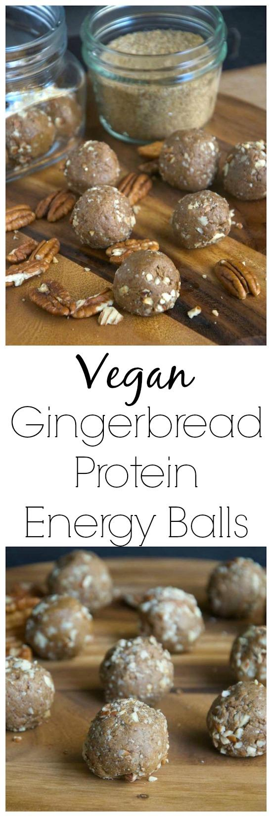 These Vegan Gingerbread Protein Balls are simple and nutritious and make a great snack, workout fuel or dessert!