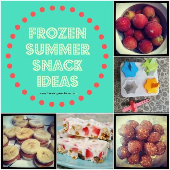 Need a healthy snack to beat the heat? 5 Frozen Summer Snack Ideas!