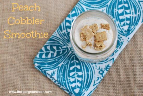 This Peach Cobbler Smoothie is like dessert in a glass. Packed with protein thanks to the cottage cheese, you're just 4 ingredients away from a delicious snack!