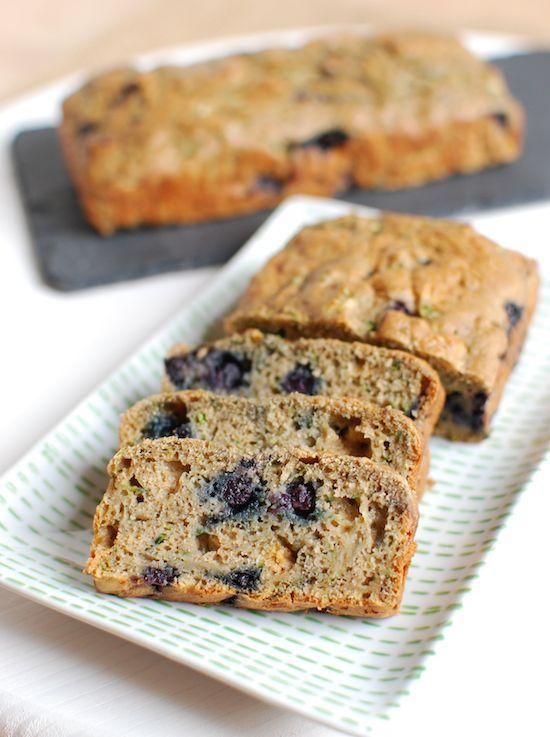 Putting wild blueberries in your zucchini bread is a great way to add antioxidants. Use up those summer zucchinis and make a loaf to snack on.