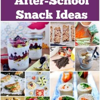 14 Healthy After School Snacks