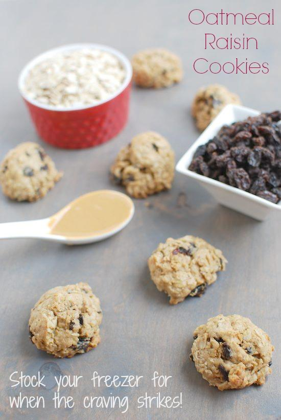 These Freezer Oatmeal Raisin Cookies can be made ahead of time and stored in the freezer for when a dessert craving hits!