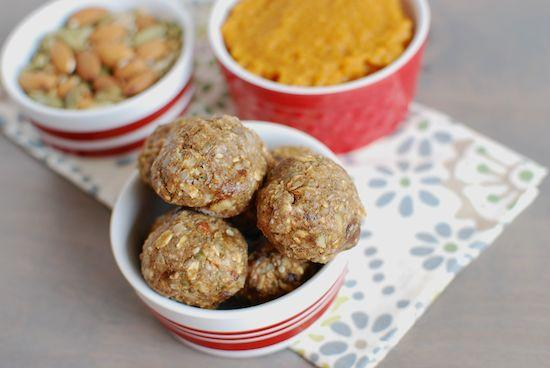 Pumpkin Energy Balls make a great grab-and-go snack to have on hand and stock your freezer with. They're full of healthy fats, fiber, and protein - plus all the flavors of fall!
