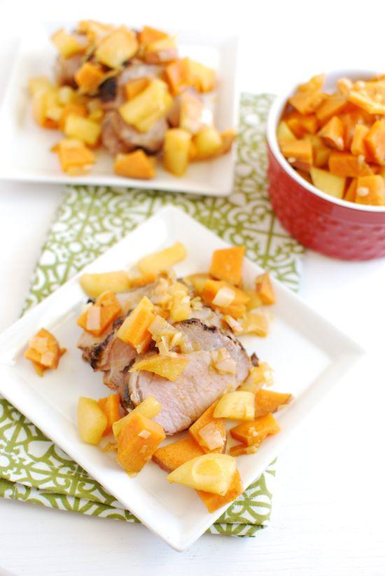 The Sweet Potato & Apple Saute is ready in 10 minutes and makes a great topping for leftovers to make a quick, healthy dinner.