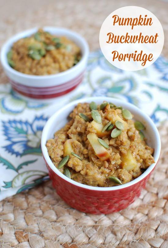 Want to try a new whole grain? This Pumpkin Buckwheat Porridge is a great breakfast option.