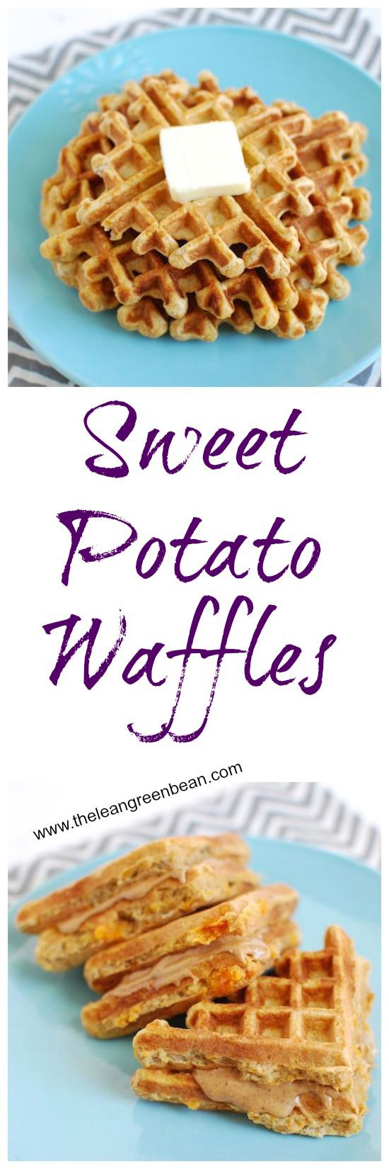 Start your day off right with these Sweet Potato Waffles for breakfast. They're healthy and simple and you can also make them ahead of time and reheat them for a snack or before or after a workout.