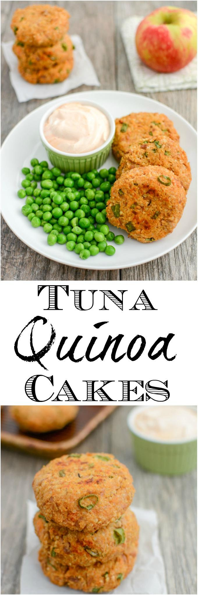These Tuna Quinoa Cakes are a great way to add some extra protein to your day. Eat them plain, put them on a bun, or use them to top your salad for a healthy lunch or dinner!