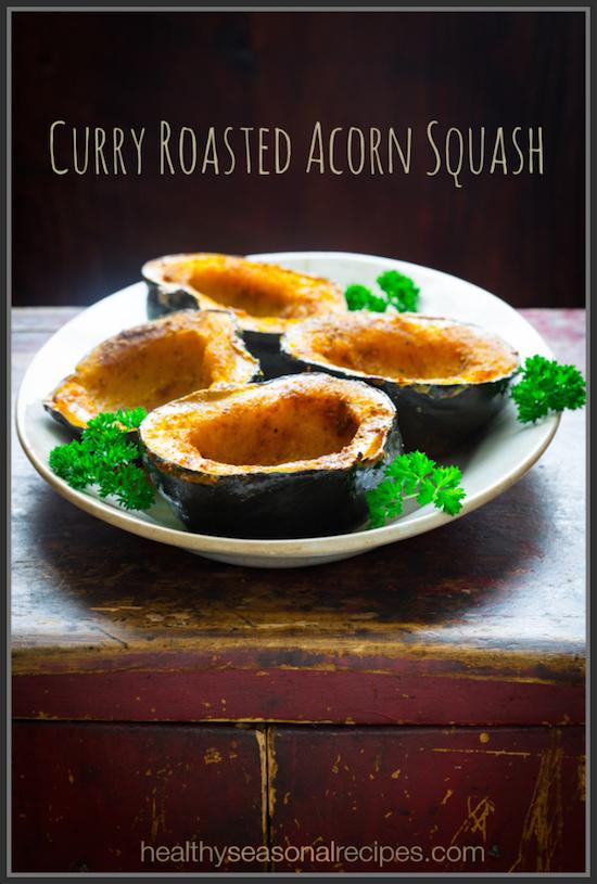 Looking for a healthy, seasonal side dish? This curry Roasted Acorn Squash requires just a few ingredients and makes the perfect compliment to a fall or winter meal!