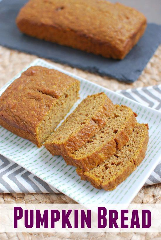 This Easy Pumpkin Bread recipe is so simple! Just mix, pour and bake your way to the perfect loaf  every time!
