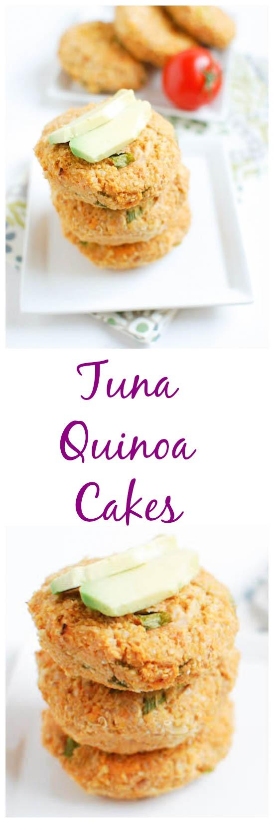 These Tuna Quinoa Cakes are packed with protein and taste great hot or cold!