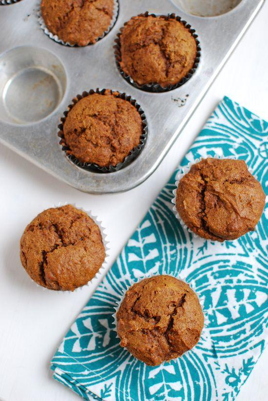 One of my favorite canned food recipes! These Pumpkin Gingerbread Muffins are packed with beta carotene and other nutrients!