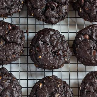 Double Chocolate Cherry Oatmeal Cookies