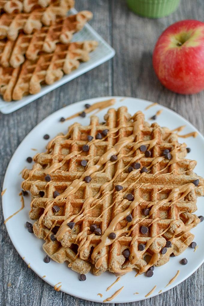 Apple Cinnamon Blender Waffles