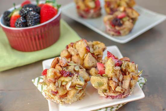 These Berry Crunch French Toast Cups are fancy enough for a weekend brunch, yet easy enough for a quick, grab-and-go weekday breakfast!