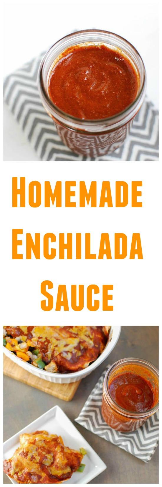 This low-sodium Homemade Enchilada Sauce is healthier and more flavorful than store-bought. Make a batch next time Mexican night is on the dinner menu!
