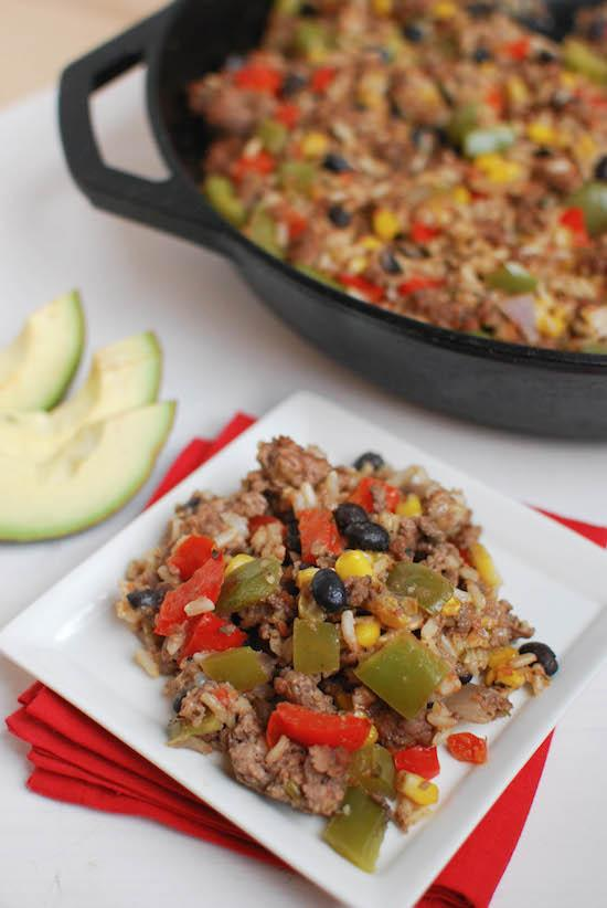 This Mexican Skillet Casserole is the perfect one pan meal for a busy weeknight dinner.