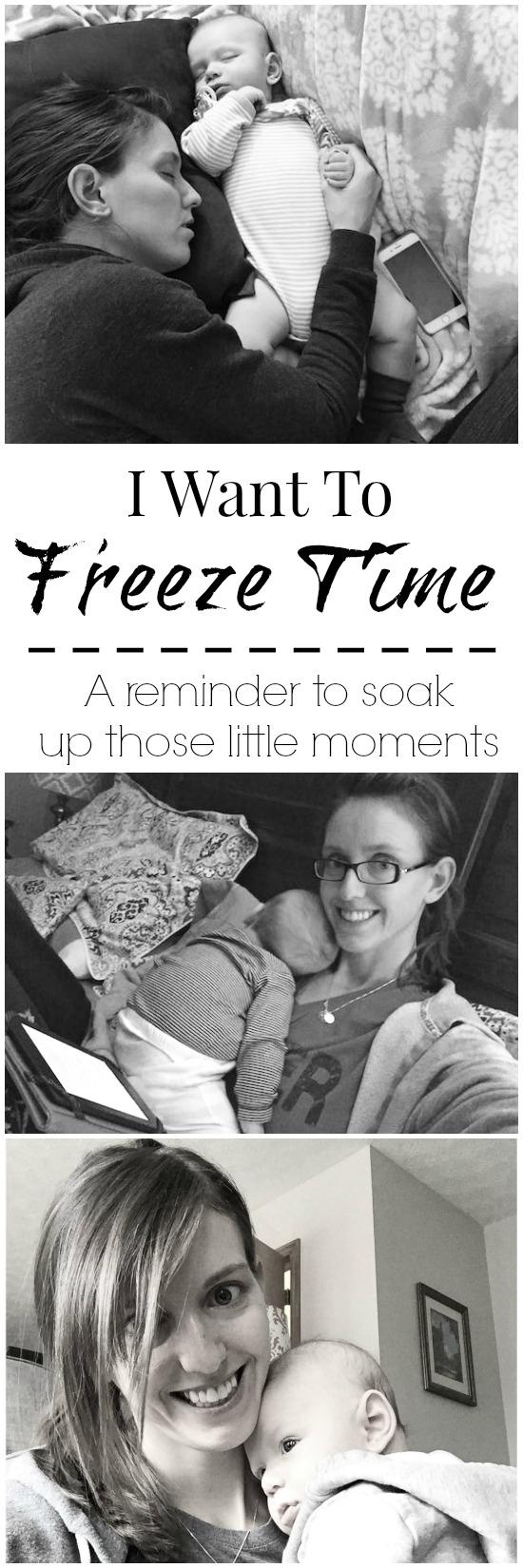 As a new mom, there will always be days that overwhelm you. Just a reminder to soak up those little moments.