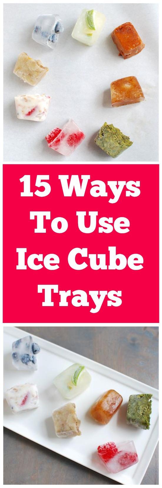 Ice cube trays aren't just for water! Here's 15 Creative Ways To Use Them!