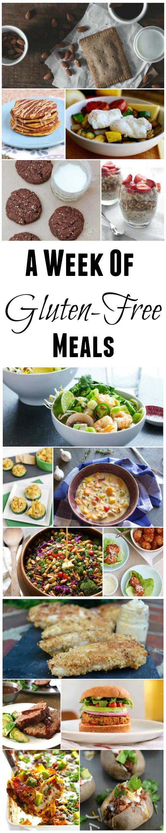 Looking for some new recipes? Here's a week of gluten-free meal ideas!