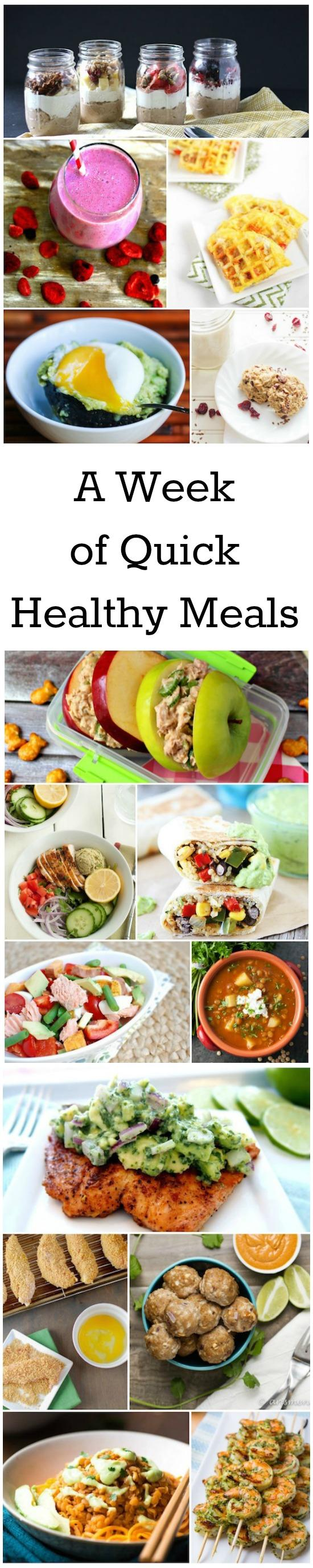 A Week of Quick, Healthy Meal Ideas