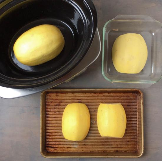 Want to learn how to cook spaghetti squash? Here are three different methods!