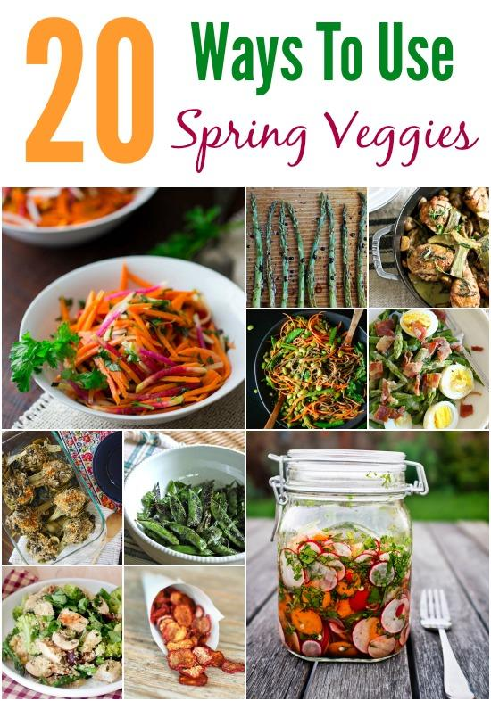 Looking for new ways to use those spring vegetables? Here are 20 recipes ideas!