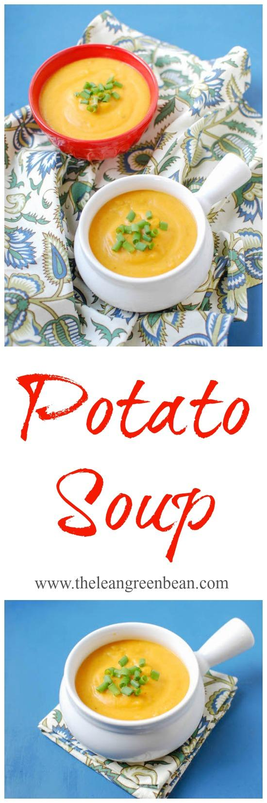 This potato soup is made with two kinds of potatoes and makes a great, nutritious option for lunch or dinner!