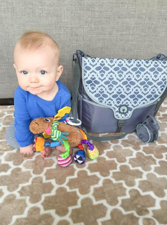 boppy diaper bag and baby